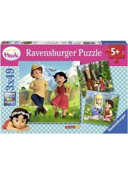 Puzzle Heidi 3x49 piezas