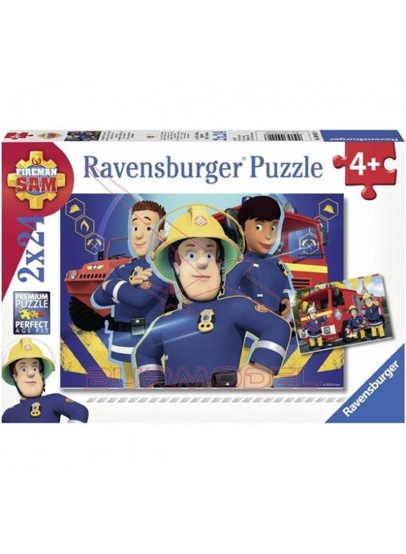 Puzzle Sam el bombero 2 x 24