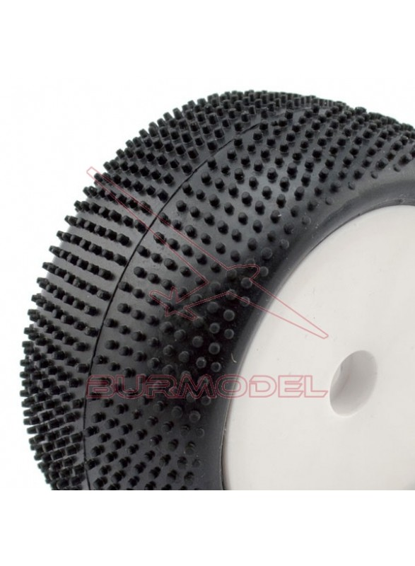 Neumáticos montados buggy 1/10 (pareja)