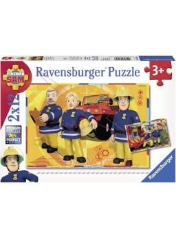 Puzzle Sam el bombero 2 x 12