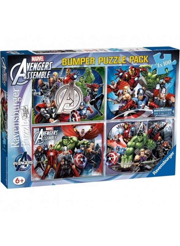 Pack puzzles Los Vengadores 4x100
