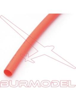 Tubo termoretractil rojo 3mm 1metro