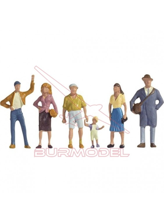 Personajes paseando modelismo tren esc: HO