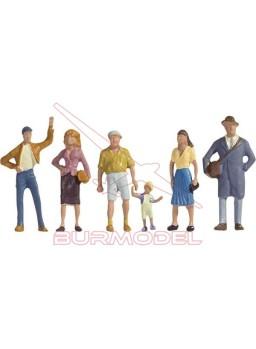Personajes paseando modelismo ferroviario esc: N