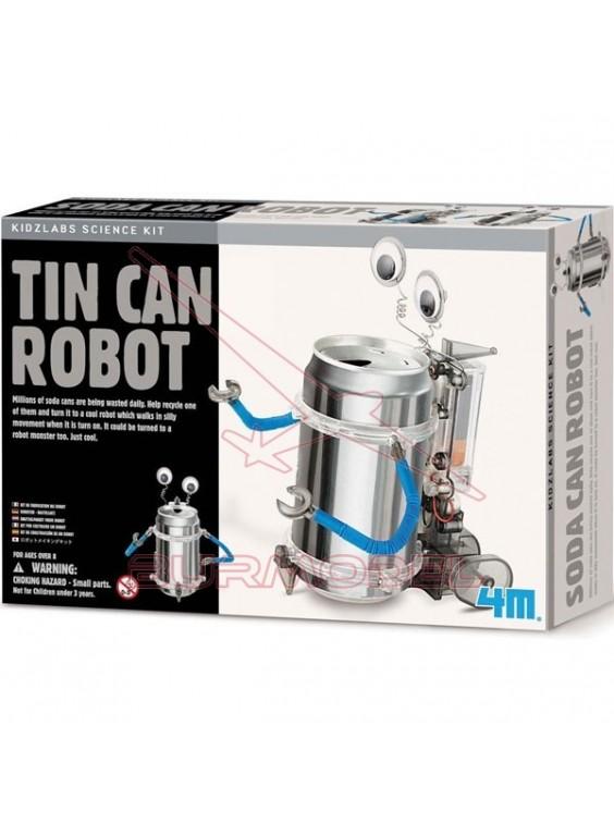 Experimento robot con lata de refresco