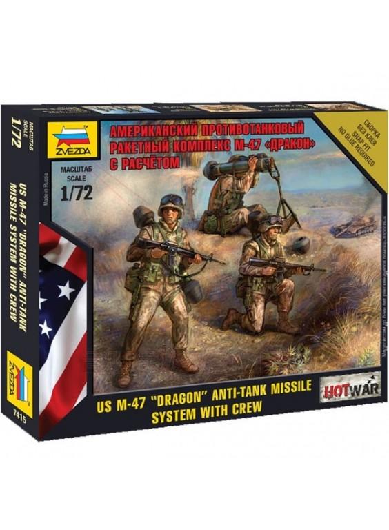 Tropas americanas con antimisiles Dragon 1/72