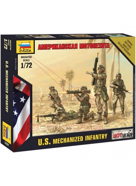 Soldados americanos modernos escala 1/72