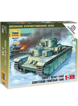 Tanque escala 1/100 sovíetico T-35