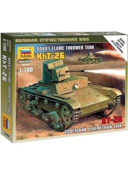 Tanque escala 1/100 T-26 lanzallamas