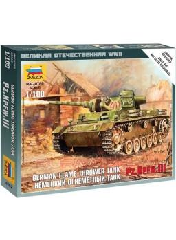 Maqueta tanque Panzer III lanzallamas 1/100