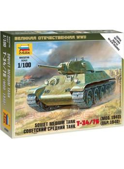 Maqueta tanque soviético T-34 1/100