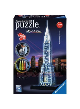 Puzzle 3D edificio Chrysler luz Led