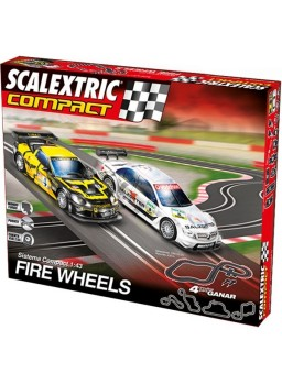 Circuito Scalextric Compact Fire Wheels 1/43