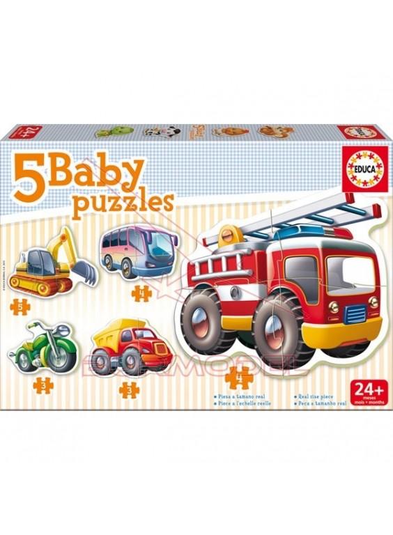 Puzzle infantil vehículos