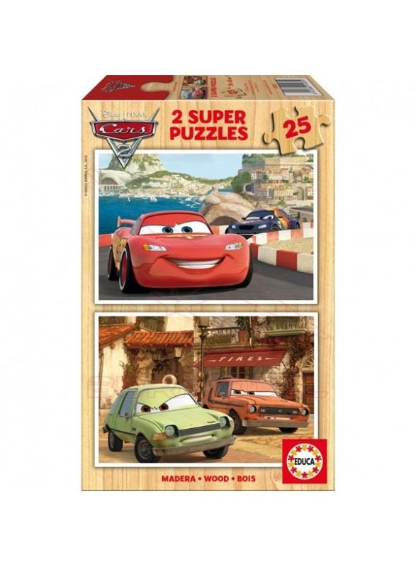 Puzzle 2x25 piezas cars 2
