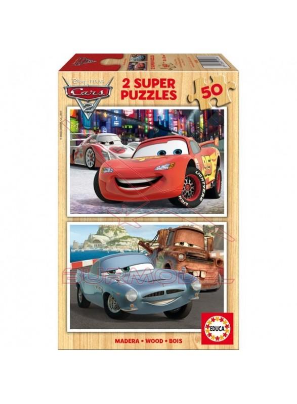 Puzzle 2x50 piezas cars 2