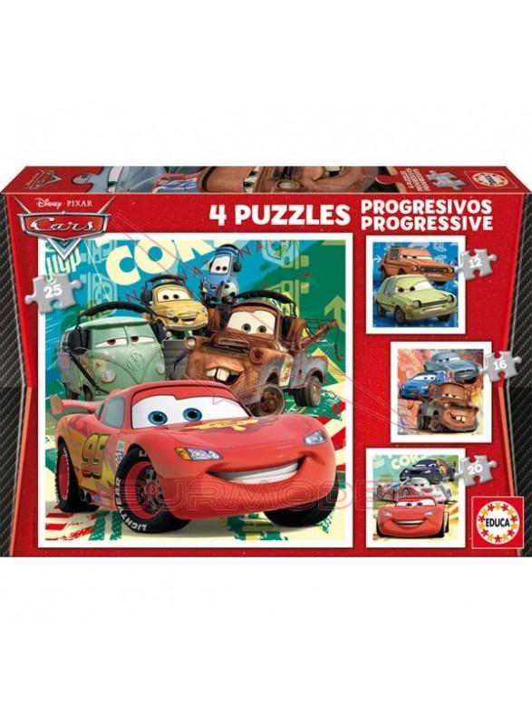 Puzzle progresivos cars 2 12-16-20-25