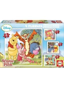 Puzzle progresivos winnie the pooh 6-9-12-16