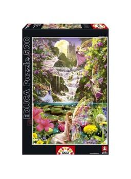 Puzzle 500 piezas cascada de hadas