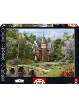 Puzzle 1000 piezas mansión en la orilla