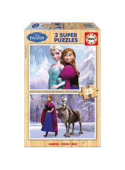 Puzzle 2x25 piezas Frozen