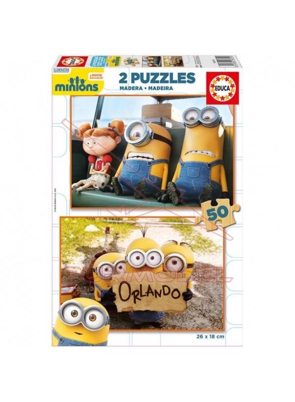 Puzzle 2x50 piezas Minions