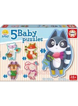 Puzzle animalitos de 3 a 5 piezas