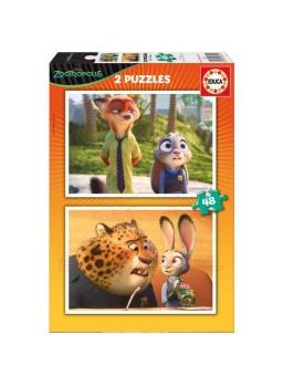 Puzzle zootrópolis 2 en 1 de 48 piezas