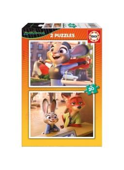 Puzzles 2 en 1 Zootrópolis 20 piezas