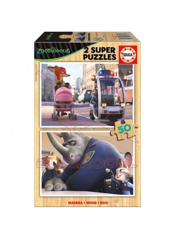 Puzzle Zootrópolis 2x50 piezas