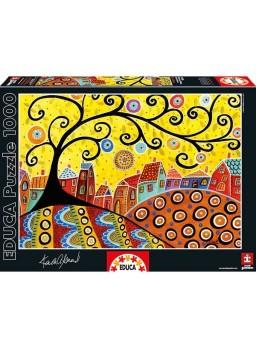 Puzzle 1000 piezas Blooming Village, Karla Gerard
