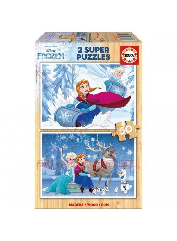 Puzzle 2x50 piezas frozen