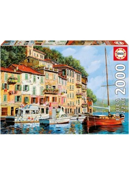 Puzzle 2000 piezas La Barca Rossa alla Calata, Guido Borelli