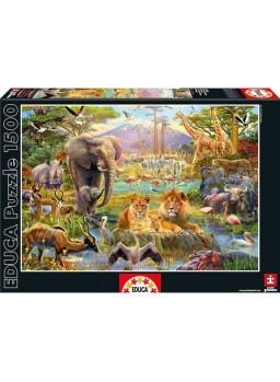 Puzzle 1500 piezas El Abrevadero Africano