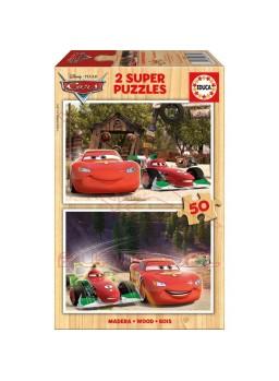 Puzzle 2x50 piezas Cars