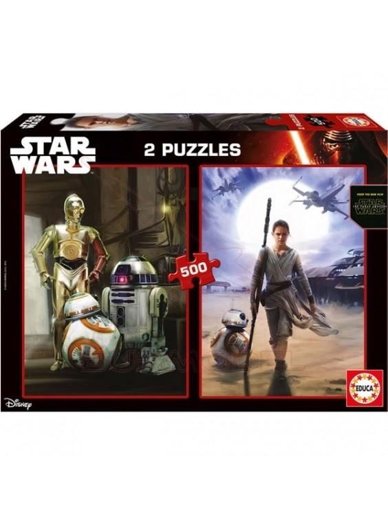 Puzzle 2x500 piezas Star Wars VII