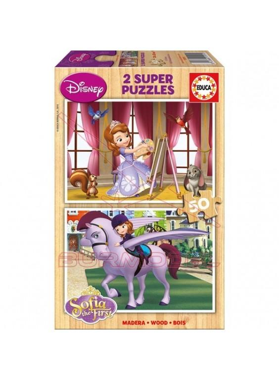 Puzzle 2 en 1 de 50 piezas La Princesa Sofía