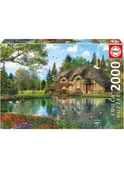 Puzzle 2000 piezas la casa del lago