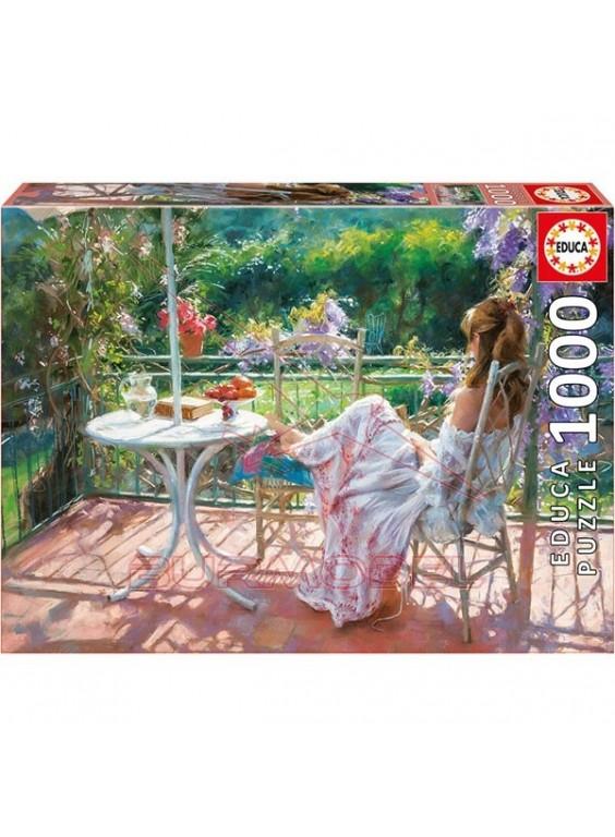 Puzzle 1000 piezas Entre Glicinas, Vicente Romero