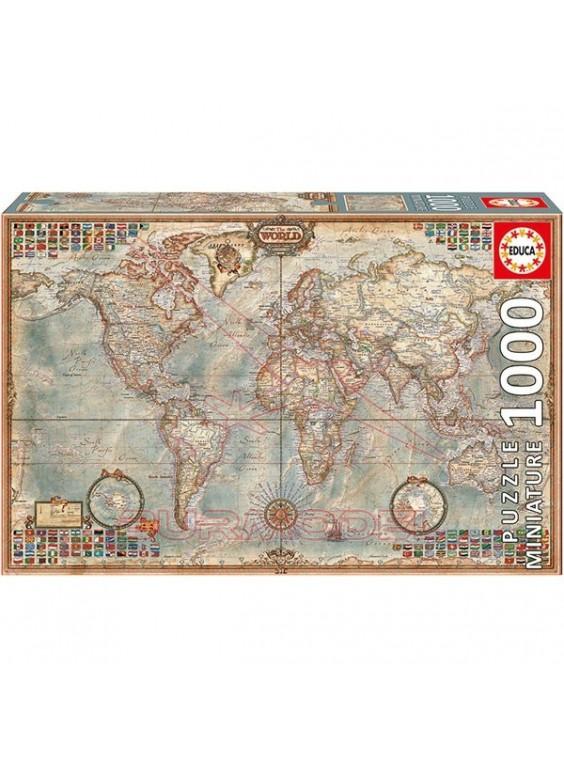 Puzzle 1000 piezas El Mundo, Mapa Político