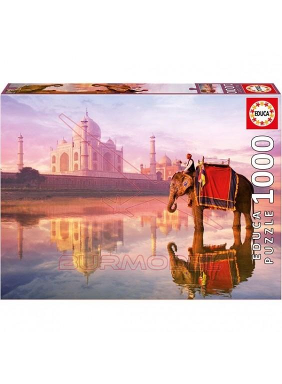 Puzzle 1000 piezas Elefante en el Taj Mahal