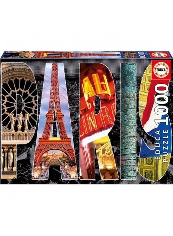 Puzzle 1000 piezas collage de parís