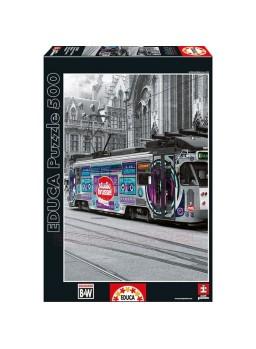 Puzzle 500 piezas Tranvía de Gante, Bélgica