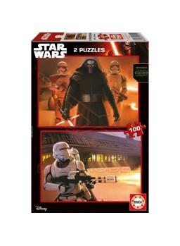 Puzzle 2x100 Star Wars: El despertar de la Fuerza