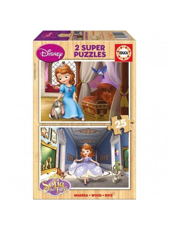 Puzzle 2x25 piezas la princesa Sofía