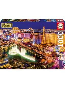 Puzzle neón 1000 piezas Las Vegas