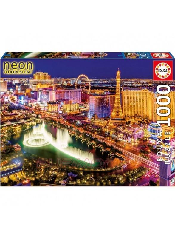 Puzzle 1000 piezas Las Vegas (neón)