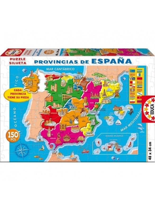 Puzzle 150 piezas provincias España