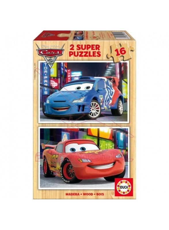Puzzle 2x16 piezas Cars 2