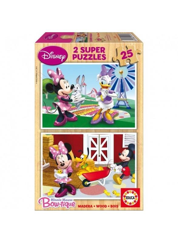 Puzzle 2x25 piezas Minnie